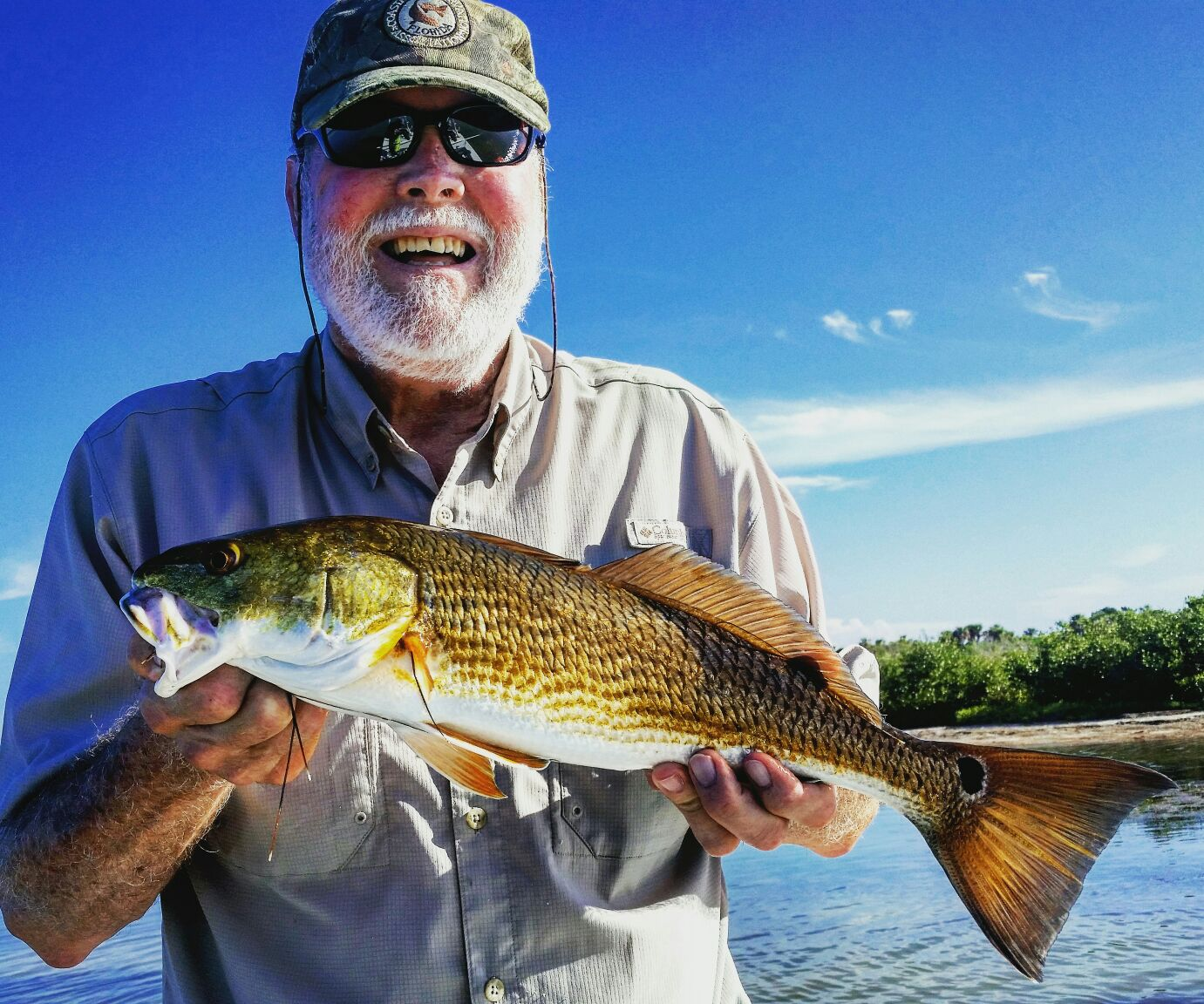 Kirby with a nice Mosquito Lagoon Redfish